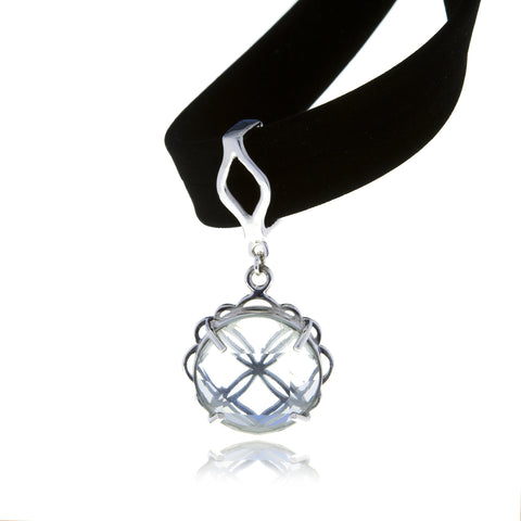Signature Crystal Flower Charm with Choker