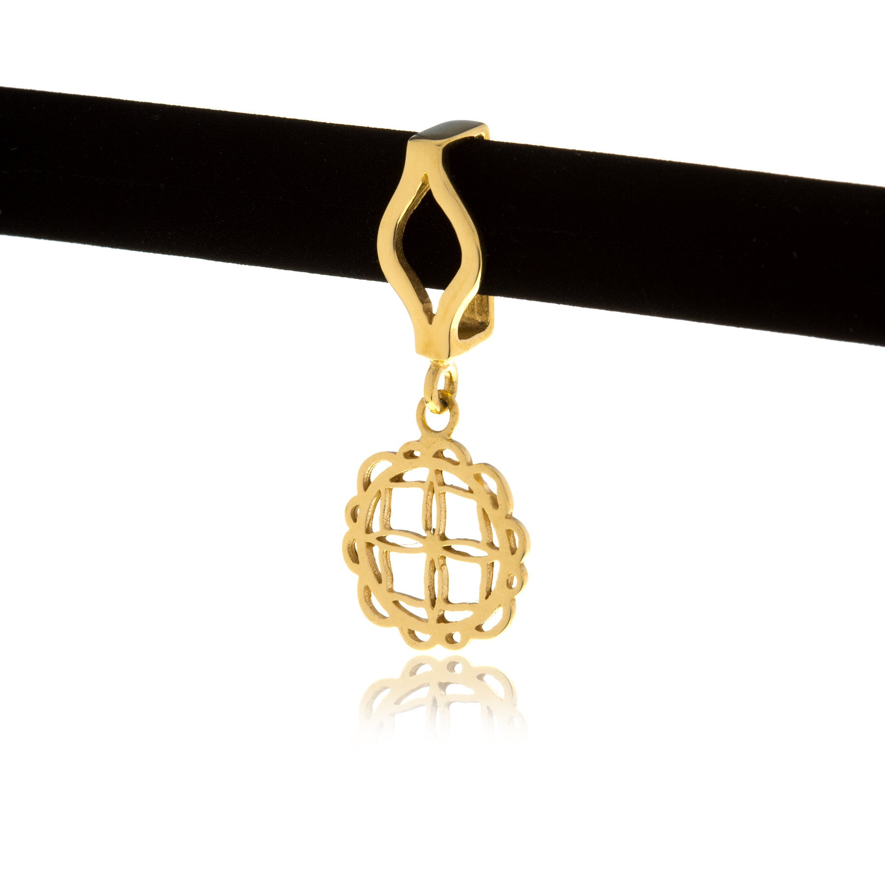 Signature Gold Flower Charm with Choker - Georgina Jewelry