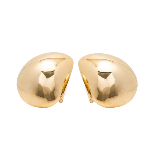 Gold Signature Dome Earrings