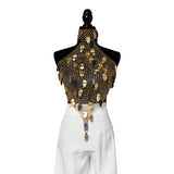 Gold Leaf Halter Top