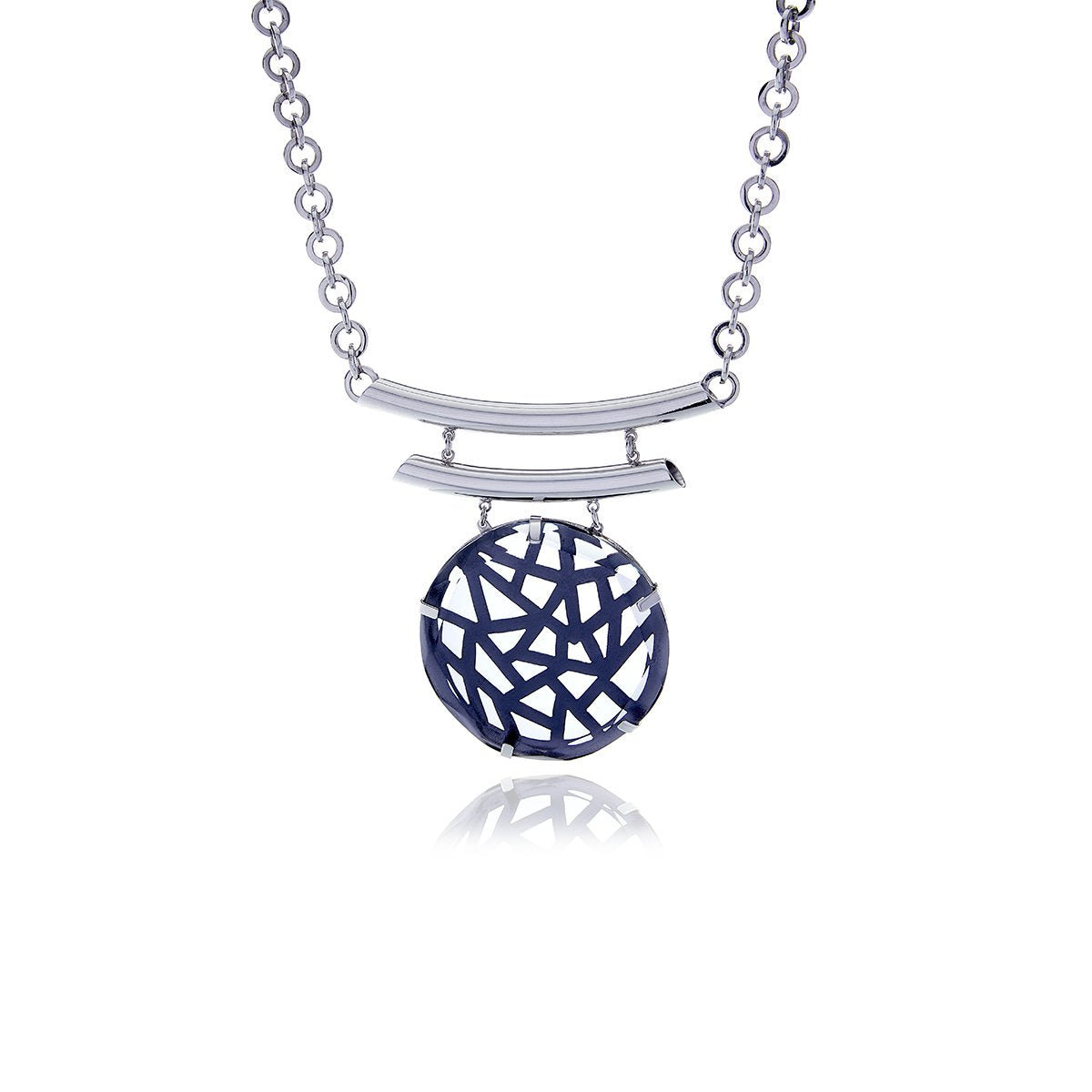 Signature  Crystal Medallion Necklace - Georgina Jewelry
