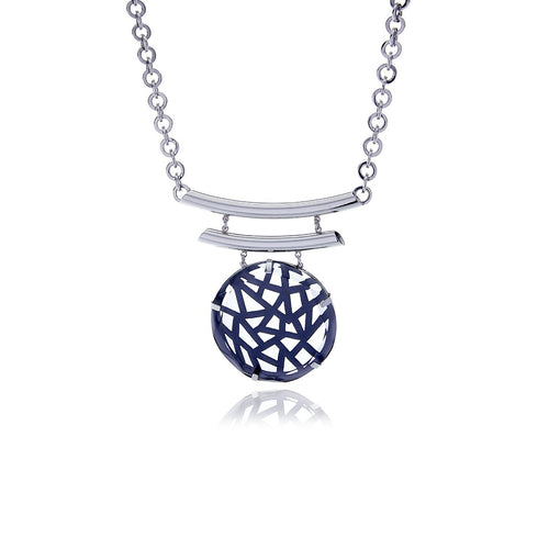 Signature  Crystal Medallion Necklace