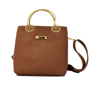 Camel Georgina Tote & Cross Body