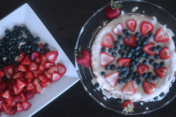 4th Of July Paleo Pound Cake With Coconut Glaze