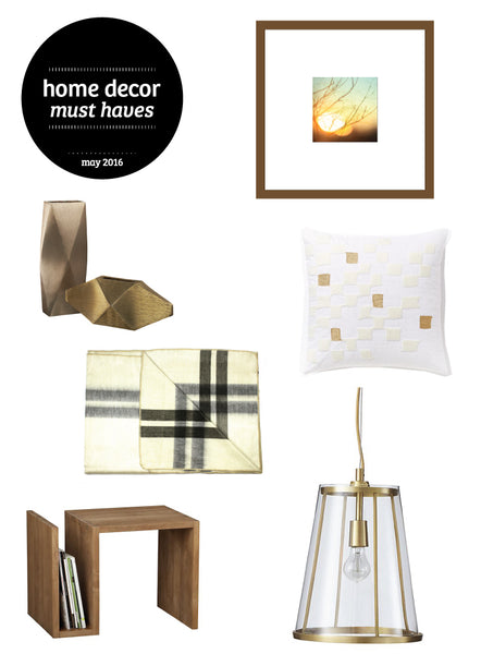 home decor must haves 2016, 6 must haves for home decorating, spring 2016 decorating ideas, tan and gold home decor ideas