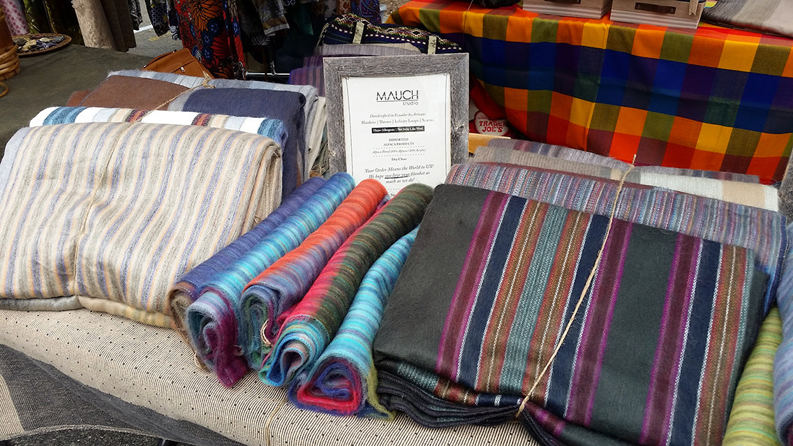 6th borough market, mauch studio, alpaca blankets