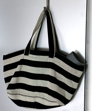Black & White Ecuadorian Boho Yoga Tote & Travel Duffel