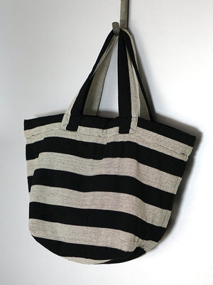 Black & White Minimalist City Tote