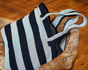 black and white striped bag,