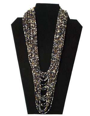 Ecuadorian Necklace -Black and Gold Beads