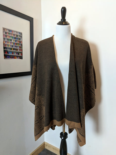 Brown Ruana Wrap