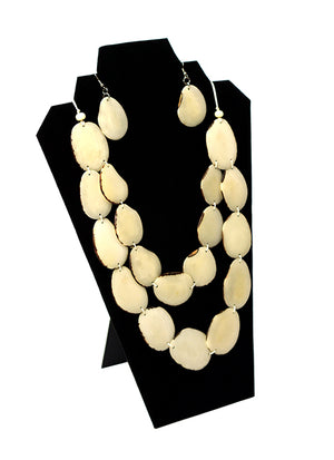 tagua nut ivory necklace, tagua jewelry, tagua necklace