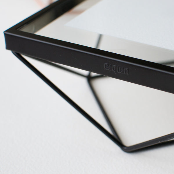 Tiny Watercolors Umbra Frame - Frame Detail in Matte Black