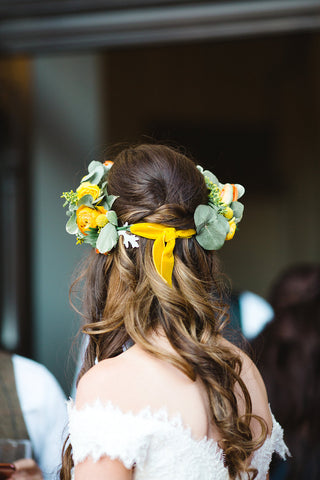 Wedding flower headpiece