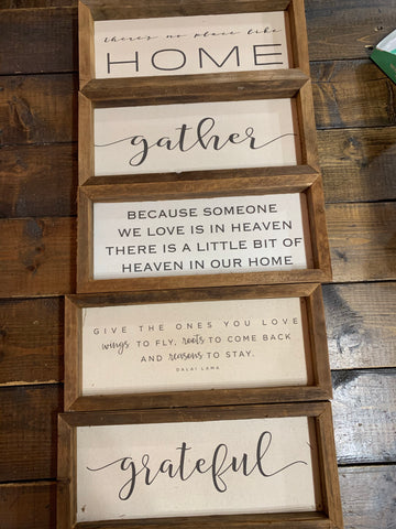 Rectangle Wooden Quote Signs