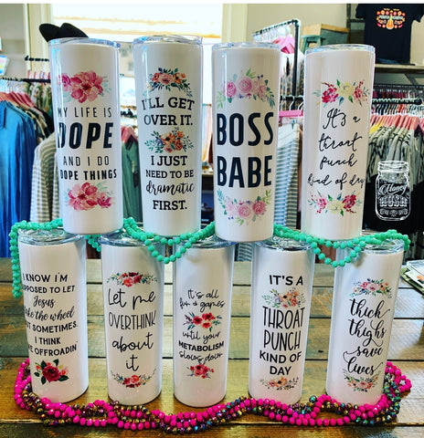 Girlie Sarcastic Travel Cups