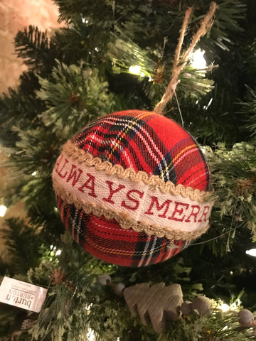Large Fabric Ball Ornaments