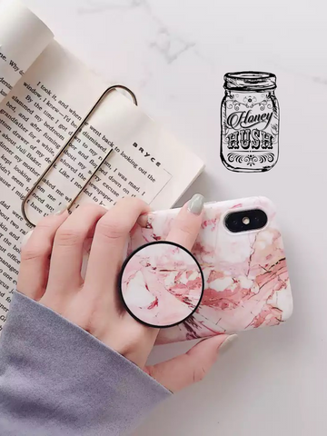 Marble Phone Case/Phone Grip Set