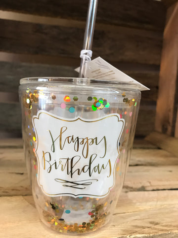 Slant 10oz Happy Birthday Confetti Cup