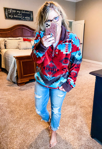 Red Canyon Aztec Pullover