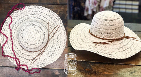 Off White Floppy Hat