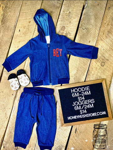 Denim Baby Jogger Set