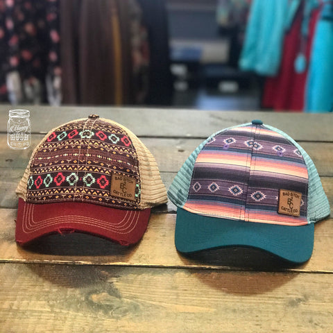 BB Cattle Co Merlot Aztec Snapback