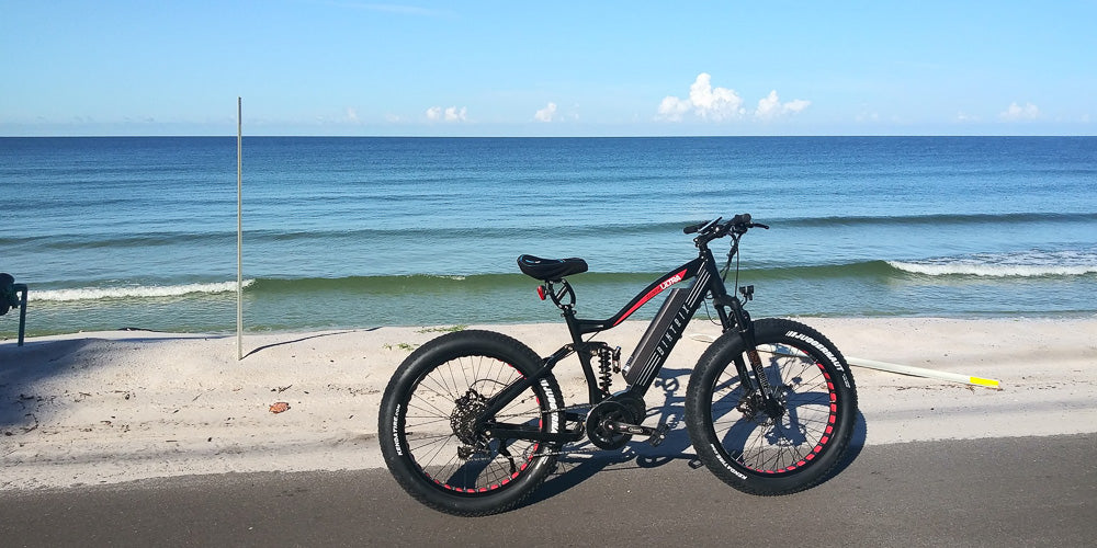 Biktrix eBike at the ocean.