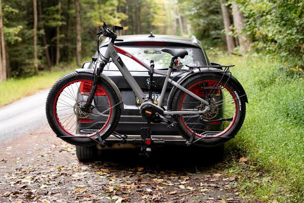 Fat tire Juggernaut Classic electric mountain bike.