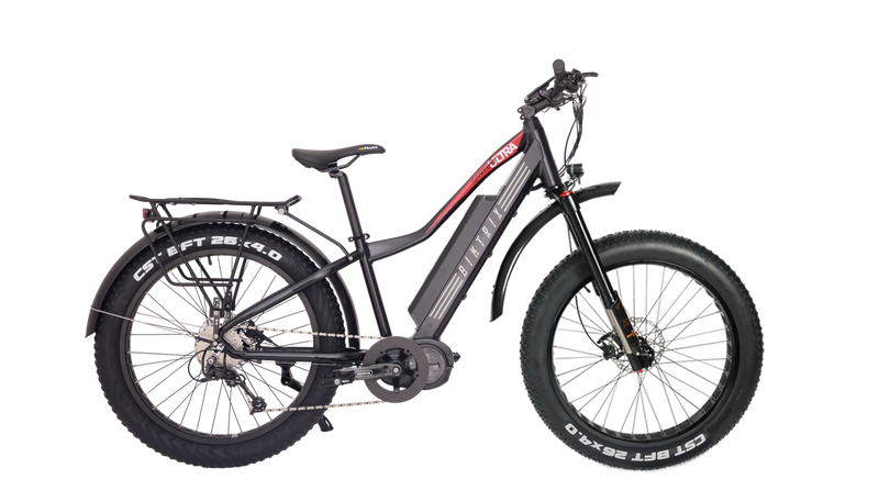 black biktrix fat tire electric bike