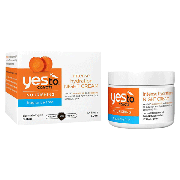 Yes To Carrots Fragrance Free Intense Hydrating Night Cream