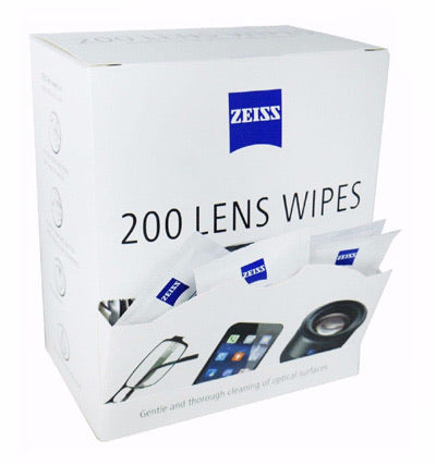 Zeiss Pre-Moisten Lens Wipes 200 Pack