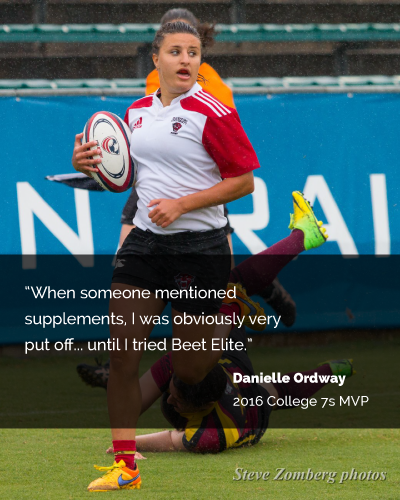 danielle ordway 2016 college 7s MVP