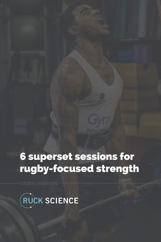 6 superset training sessions