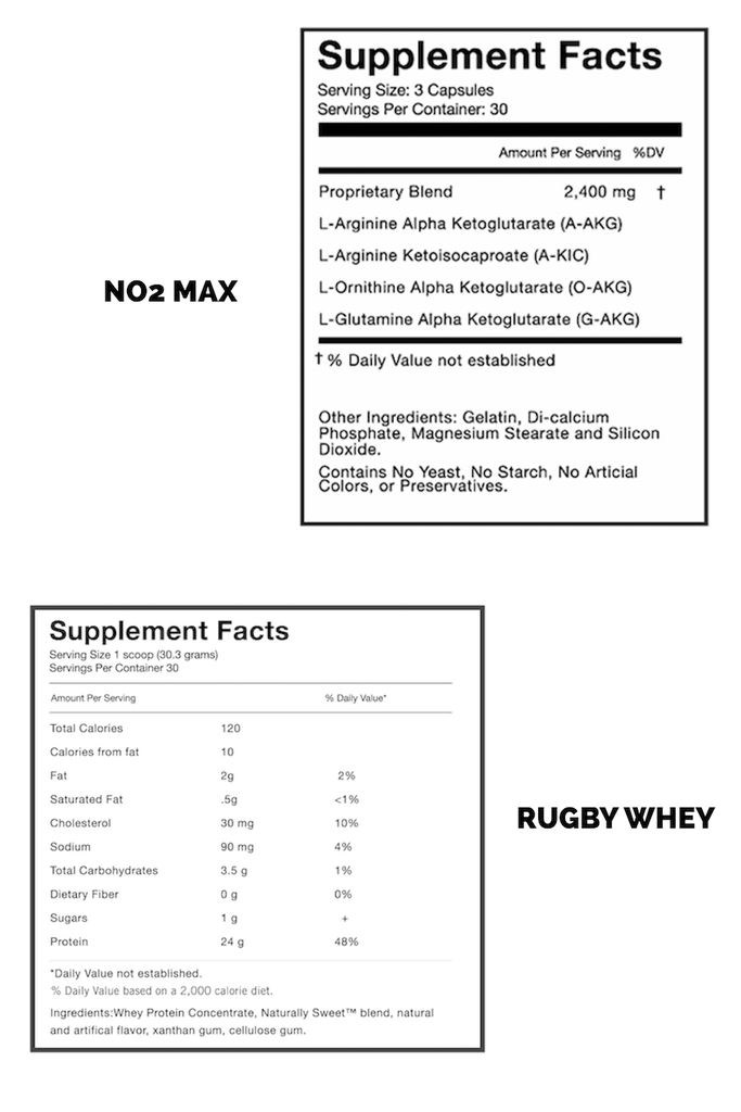 rugby recovery supplement facts