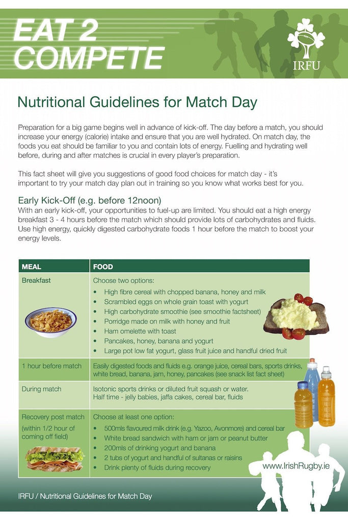 eBook nutrition rugby day