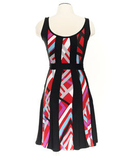 Parlour Dress Red Stripes - Animated Closet