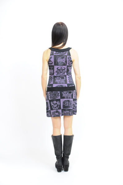 Zodiac Halter Dress Purple - Animated Closet NYC