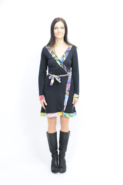 Cotton Wrap Dress - Animated Closet NYC