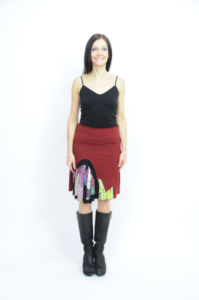 Curved Patch Skirt - Animated Closet NYC