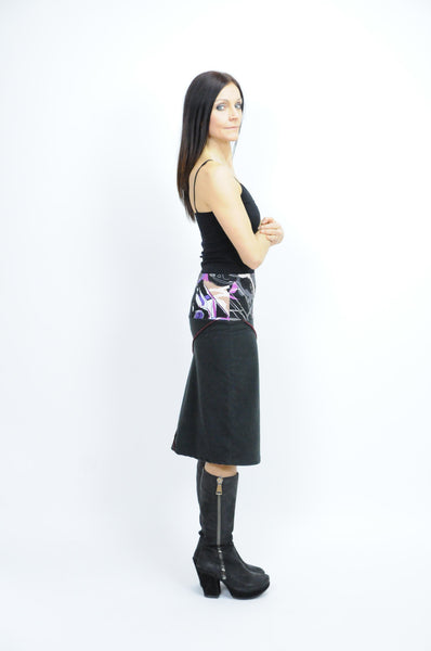 Fleece Contrast Stitch Skirt - Animated Closet NYC