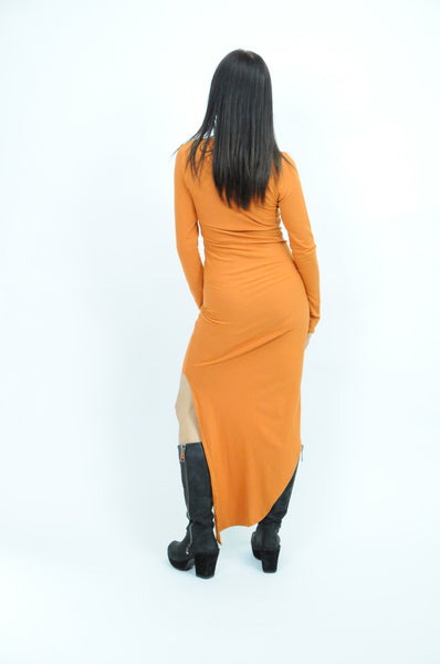 Eco Scoop Neck Orange Dress - Gabe Ruth