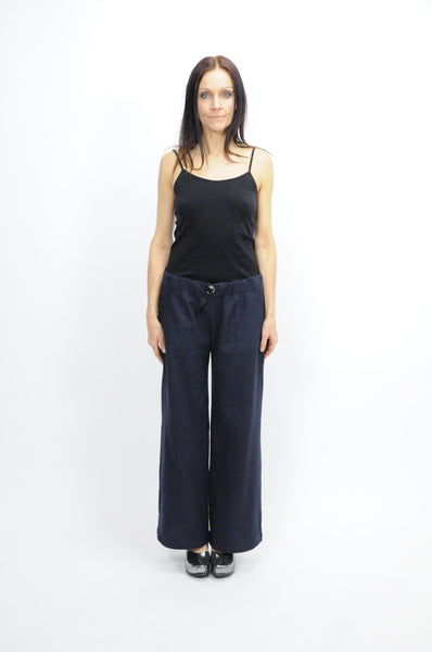 Wide Leg Navy Pant - Lococina for Voguemobile