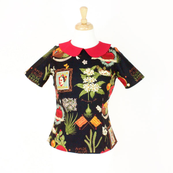 Frida Kahlo Vintage Inspired Top - Hemet