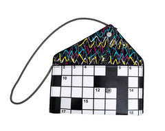 Crossword Puzzle Clutch - Kent Stetson