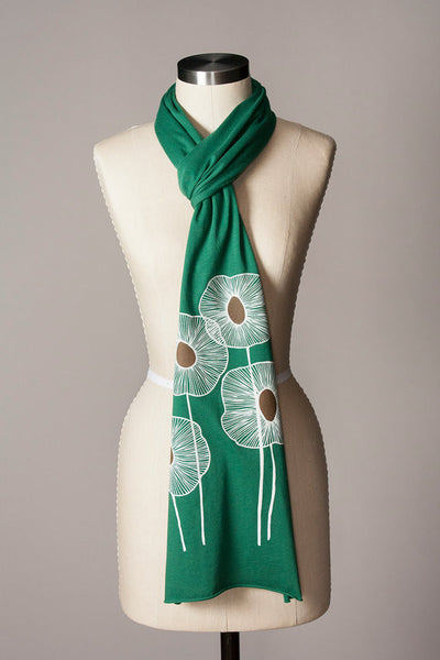 Pineapple Flowers Scarf in Clover - Flytrap