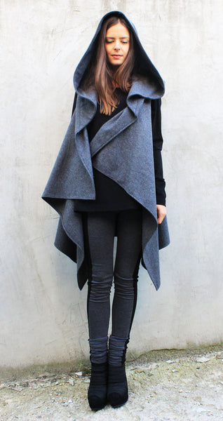 Oversized Hooded Wool Vest - FRKT
