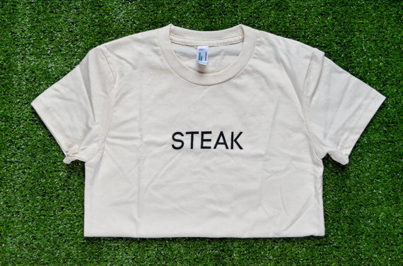 Men's Organic Steak T-Shirt - Sophster-Toaster