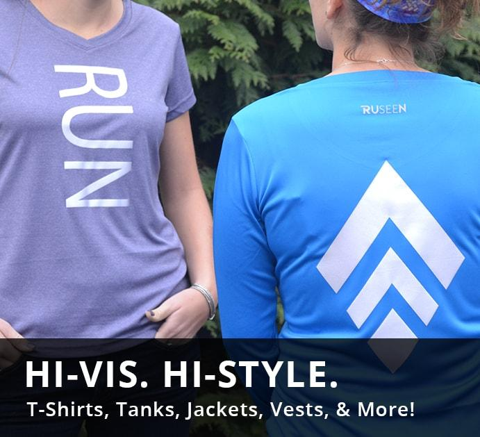Reflective High Visibility Activewear T-shirts, tank tops, vests, jackets, running and cycling gear