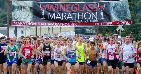 RUSEEN Reflective Apparel - NY Wineglass Marathon Starting Line
